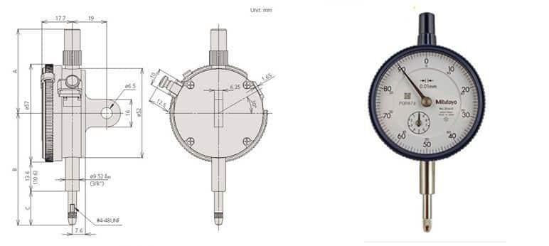 Đồng Hồ So Kiểu Cơ MITUTOYO 2046S (10Mm/ 0.01Mm)