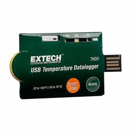 Bộ ghi dữ liệu nhiệt độ USB Extech THD5
