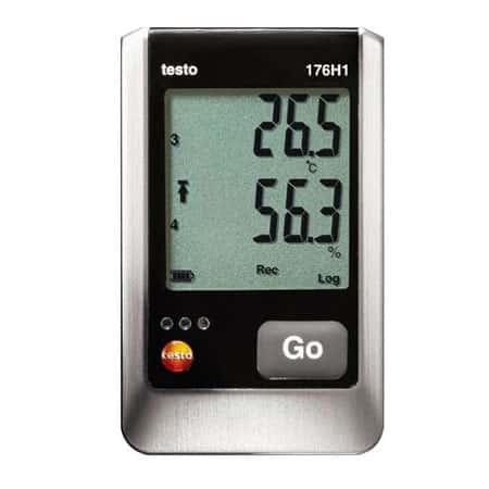 Bộ ghi dữ liệu nhiệt độ, độ ẩm Testo 176 H1 (0572 1765, 0 ~ 100 %rH, -20 ~ +70 °C, 4 kênh, IP65)
