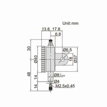 Đồng hồ so INSIZE 2887-5 (5mm/0.01mm)
