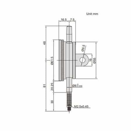 Đồng hồ so chống nước Insize 2324-10FA(0-10mm / 0.01mm)