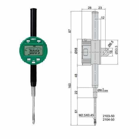 Đồng hồ so điện tử Insize 2103-50 (03)