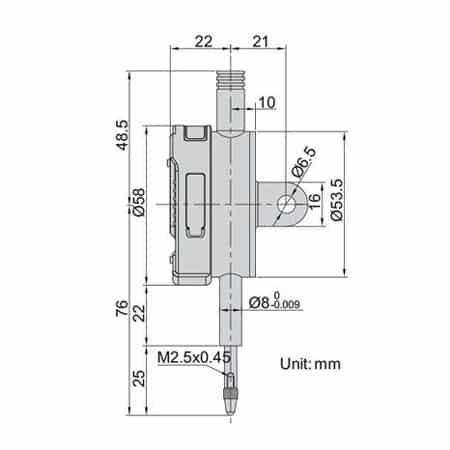 Đồng hồ so điện tử INSIZE, 2112-101F, 12.7mm/0.5