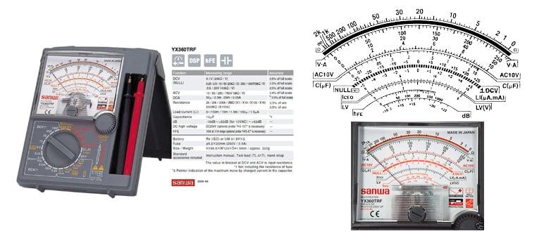 Đồng hồ đo kim vạn năng Sanwa YX-360