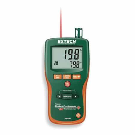 Máy đo độ ẩm và nhiệt ẩm kế IR đa năng Extech MO295 (đo độ ẩm gỗ, vật liệu, không khí, nhiệt độ, có nhớ)
