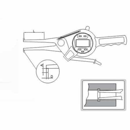 "Compa điện tử đo trong Insize 2151-AL75 (55-75mm/2.2-3\"",0.01mm/0.0005,L:250mm)"