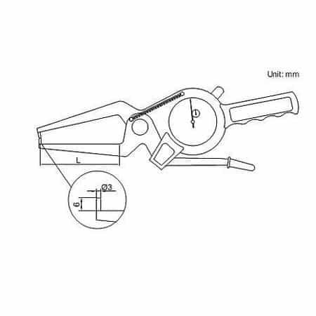 Compa đồng hồ đo ngoài Insize 2332-20 (0-20mm, 0.01mm, L: 60mm)
