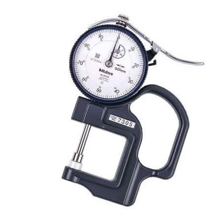 Đồng hồ đo độ dày vật liệu kiểu cơ Mitutoyo 7305 (0-20mm/ 0.01mm)