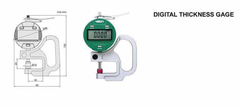 Đồng Hồ Đo Độ Dày Vật Liệu Điện Tử INSIZE 2871-10 (0-10mm/0.0005)