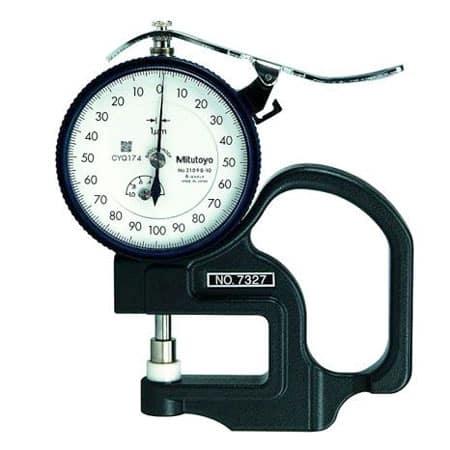 Đồng hồ đo độ dày vật liệu kiểu cơ Mitutoyo 7327 (0-1mm/ 0.001mm)