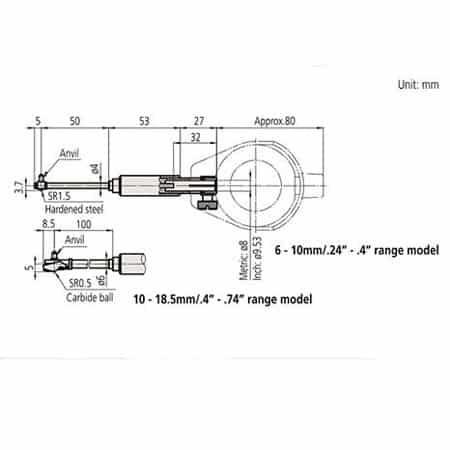 Đồng hồ đo lỗ nhỏ Mitutoyo 511-204 (04)