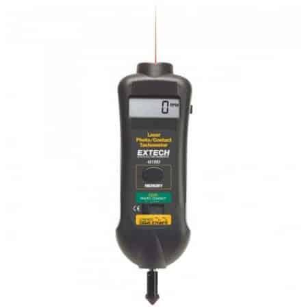 Máy đo tốc độ vòng quay kiểu tiếp xúc và laser Extech 461995 (0.5 to 19,999 rpm)