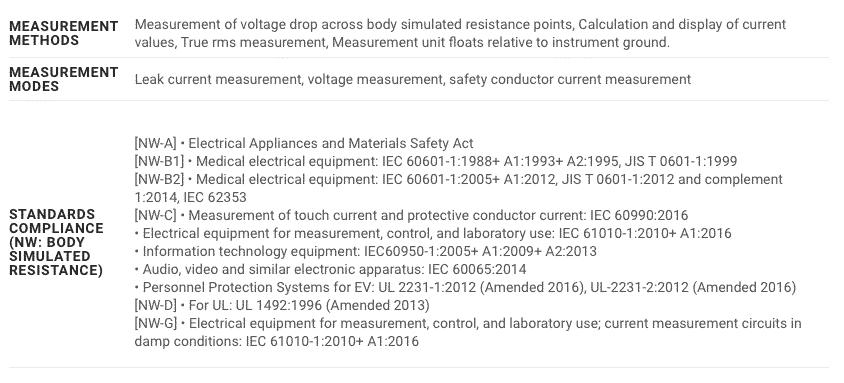 Spec Hioki ST5540 Leak Current Hitester (1)