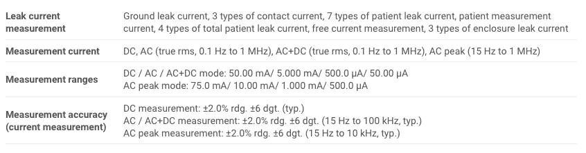 Spec Hioki ST5540 Leak Current Hitester (2)