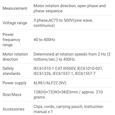 Spec Sanwa KS3 Phase Detector